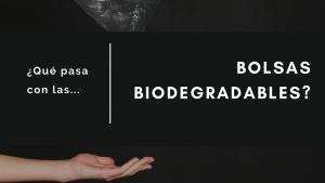 Qué pasa con las bolsas biodegradables