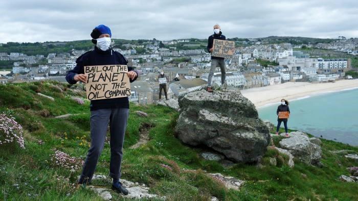 Activistas en Cornwall. © Gav Goulder/In Pictures/Getty
